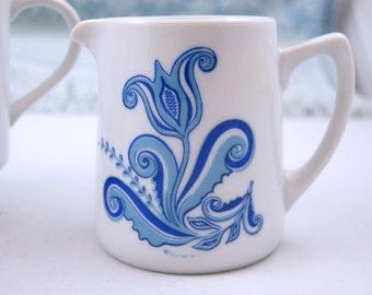 Blue and White Berggren Creamer