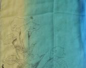 Calla Lilies on Silk Scarf