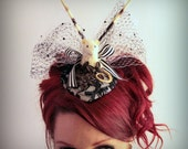 Monochrome Taxidermy Rat Fascinator with Porcupine Quills