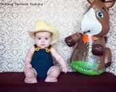 Baby Crochet Diaper Cover Overalls