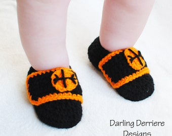 Instant Download Sports Straps Baby Boy Bootie Crochet PATTERN: For Baseball, Basketball, and Football