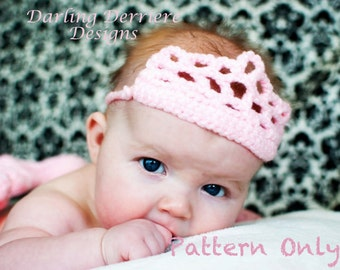 Instant Download PDF Crochet Princess Crown PATTERN