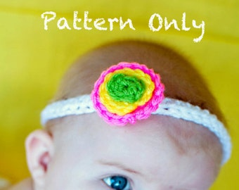 Instant Download PDF Polka Dot Crochet Headband PATTERN