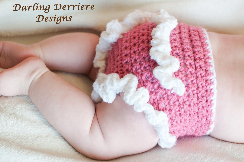 Crochet Newborn Diaper Cover : Instant Download PDF Ruffle Diaper Cover Crochet PATTERN