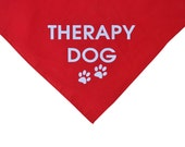 Therapy Dog red dog bandana