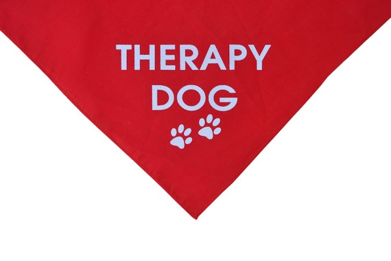 Reserved for Erik, Therapy Dog red dog bandana