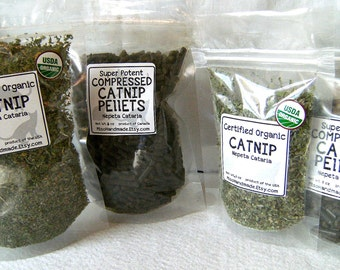 Catnip Sampler Organic Catnip and Compressed Catnip