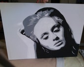 Beautiful Acrylic Adele Canvas