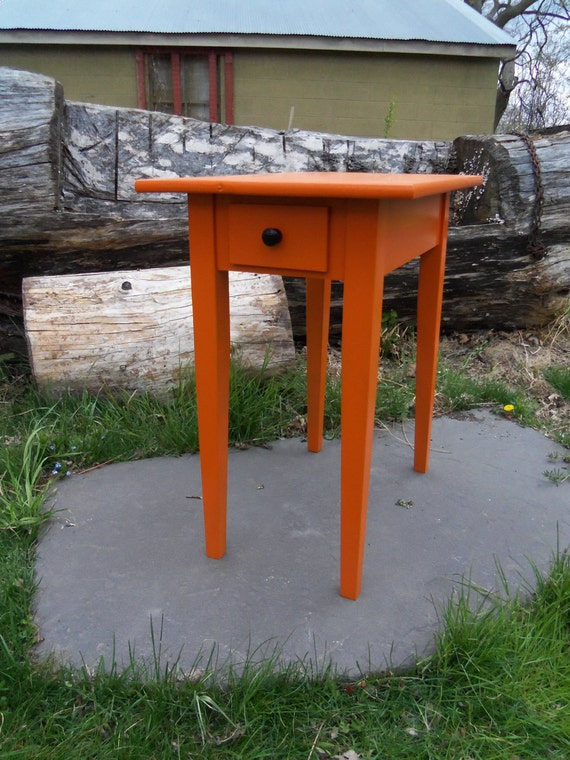 Tangelo Nightstand, bright and playful.
