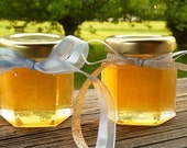 Wedding Favors, 24 Raw Wildflower Honey 2oz Jars, Raw Honey, Tennessee Wildflower, Edible Favors