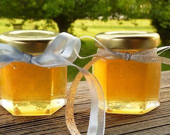 Wedding Favors, 24 Raw Wildflower Honey 2oz Jars, Raw Honey, Tennessee Wildflower, Edible Favors