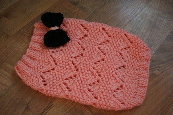 FREE SHIPPING Knit Cat/Dog Sweater with a Bow