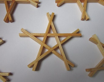 Pentagram Coasters set of 4 (christmas coasters)