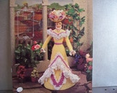 1995 Collection of 1901 Turn of the Century Doll Gown Crochet Patterns