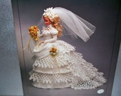 1993 Victorian Lady Centennial Collection Bride Doll Gown Crochet Pattern -- Free Shipping