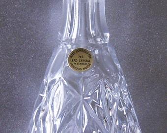 Princess House Wine Liquor Decanter Of 24 Lead Crystal