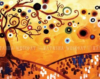 Modern ABSTRACT Art PRINT Rustic Home decor Tree  by Natasha Wescoat 8x10 12x16 13x19 16x20