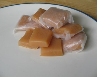 Homemade Caramels, 1 Pound Individually Wrapped Pieces, Vanilla or Chocolate