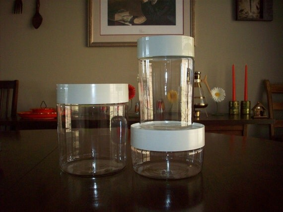 Vintage Canister Set Pyrex Glass Canister Container Set