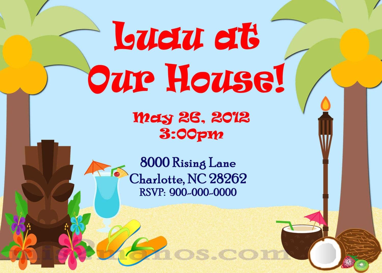 Hawaiian Invitation Template for great invitations example