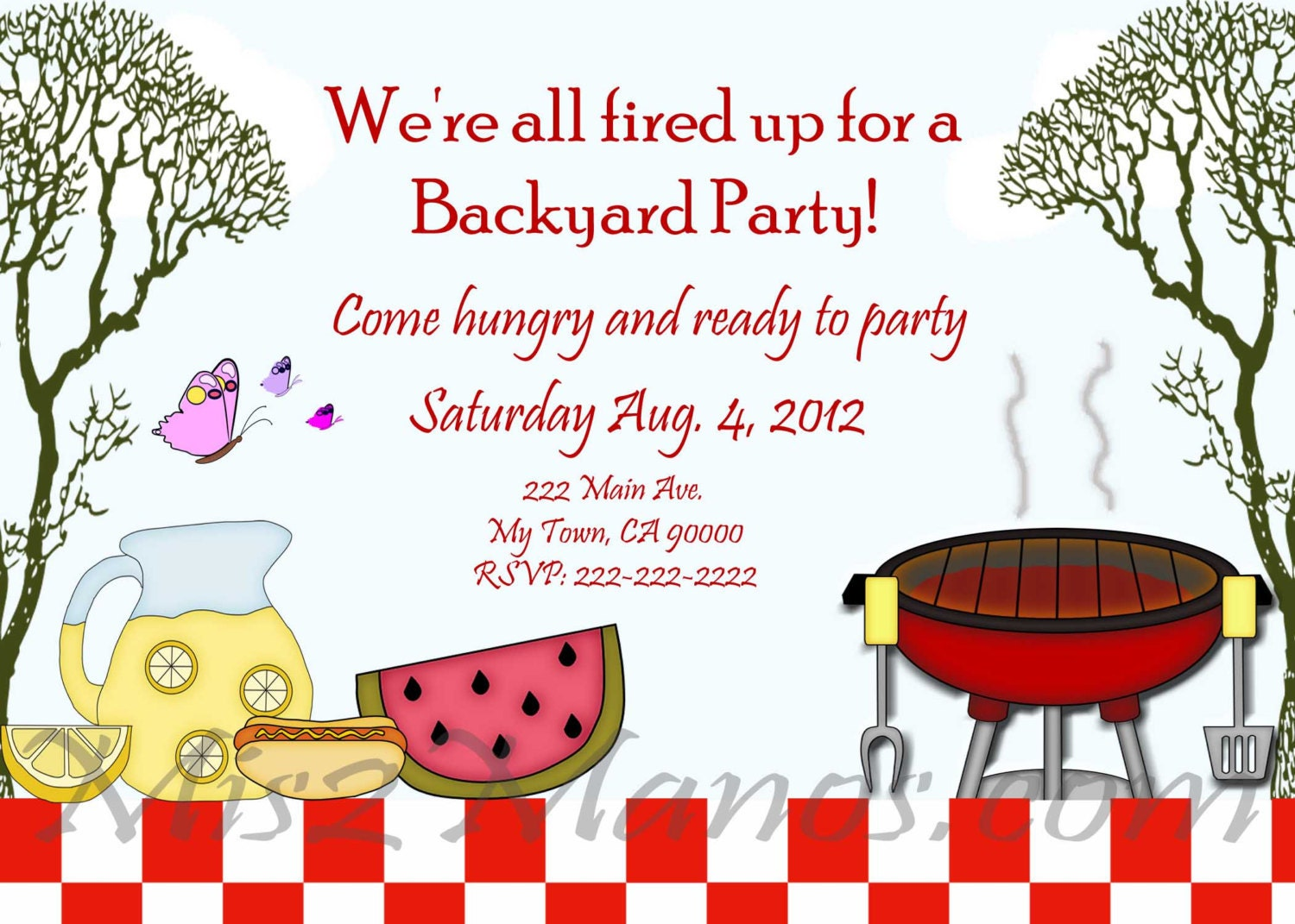 BBQ Invitations diy Printable Barbecue Party Invites – Free Summer Party Invitation Templates