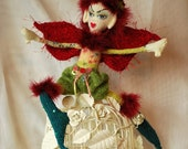 Fairy Doll Fantasy Hand Knitted  Fantasy Fairy Craft Doll UK Seller
