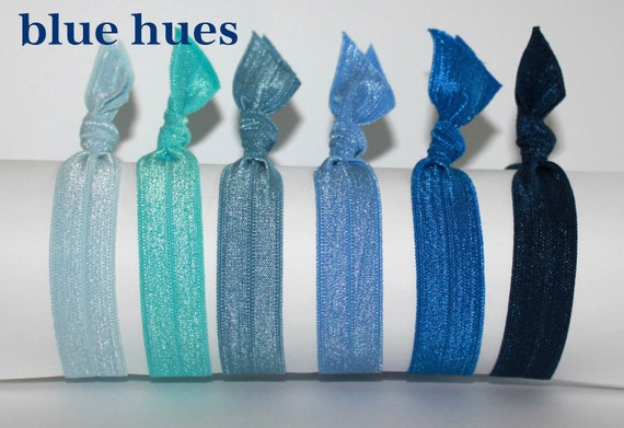 The Latest in Hair Ties - 6 Count Blue Hue Package