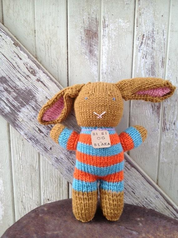 Yellow Ochre Hand-Knit Bunny Rabbit Stuffed Animal