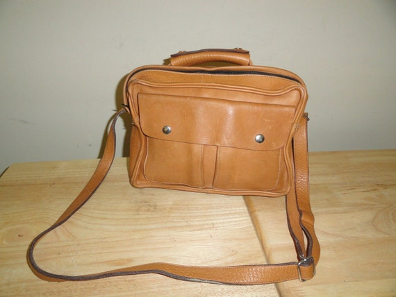Nice British Tan Leather Tony Bryant New York Small Vintage Briefcase/Attache