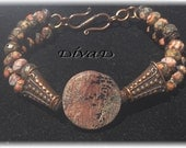 Picasso Jasper and Copper bracelet
