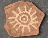 Eye Symbol Petroglyph Reproduction Wall Art