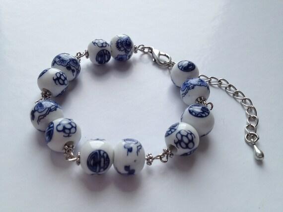 Chunky Delft Blue bracelet