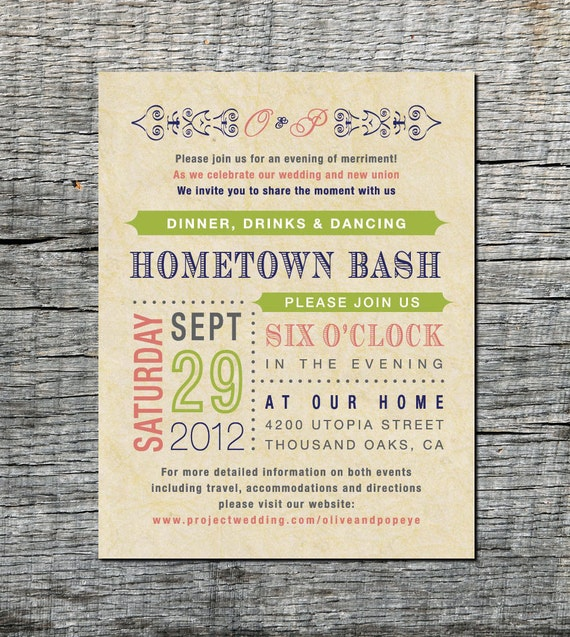 Wedding Invitations Old Fashioned: Reception Card Wedding Invitation Old Fashioned Style DIY