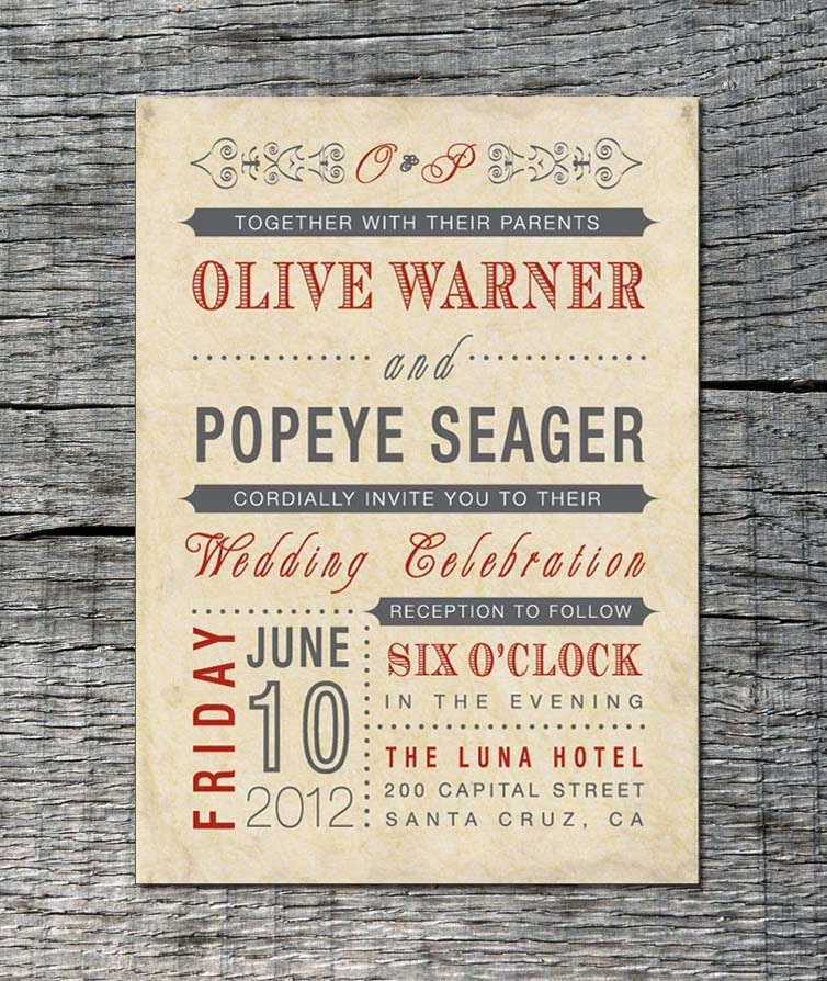 Vintage Wedding Invite: Vintage Wedding Invitation Old Fashioned Style Printable
