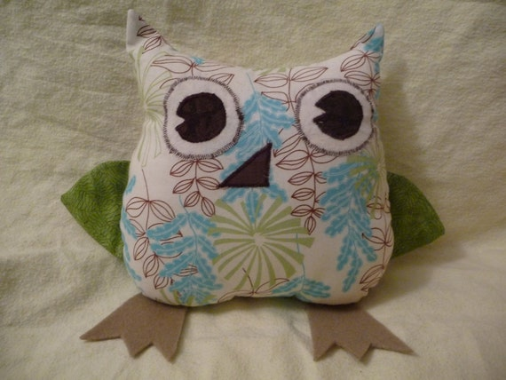 Reserved for Jessica - Plush, stuffed Owl pillow