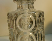 EAPG Decanter : Giant Bullseye pattern AKA Concave Circle - ca. 1880s