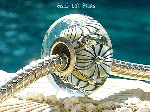 Reserved For Susanna SEA SPIDER OPAL Fully Lined Sterling Silver Big Hole Bead for Trollbeads Chamilia and European Charm Bracelets