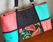 Reserve Order for Rebecca:  Large Work Tote & Wallet in Moda's Sassy Color Blocks