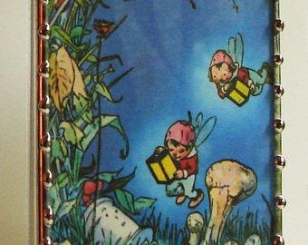 Night Light Fairies - Nightlight Lighting - Vintage Storybook Illustration - Nursery Accessory - fairy tale N75