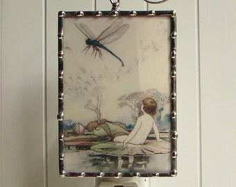 Dragonfly Night Light - Nursery Nightlight Vintage Image - Night Light Bathroom Hallway Bedroom Nite Lite N79