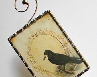 Night Light Crow, Nightlight Birds Raven Vintage French N28