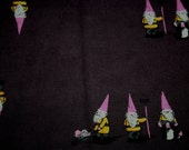 Heather Ross Spoonflower purple pink gnomes OOP LAST Pieces