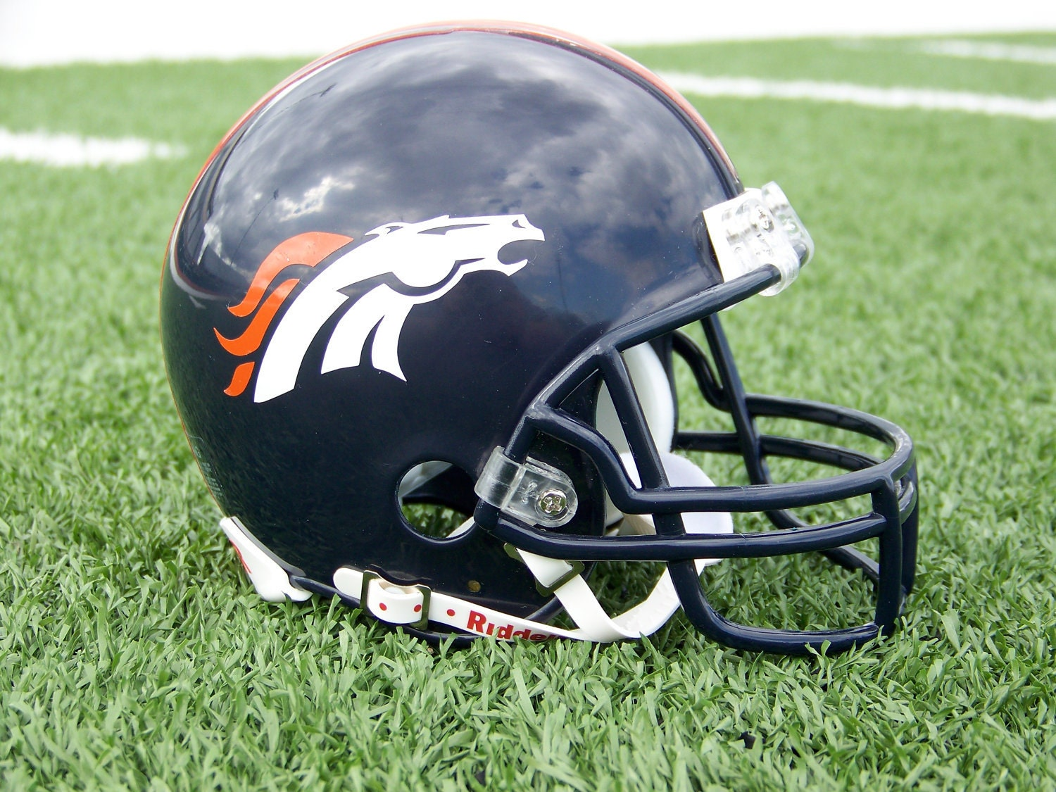 Viewing Gallery For - Broncos Football HelmetBroncos Football Helmet Front View