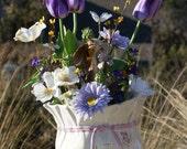 Easter Floral, Rabbit in the Garden, Home Decor, Porch Decor, Silk Floral, Rabbit, Spring