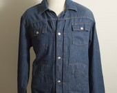 Vintage Denim Chore Jacket Ranch Field Medium Large