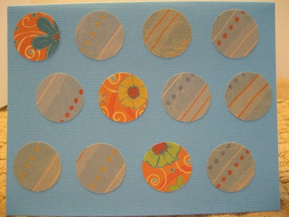 Blank, Blue, Orange, All Occasion, Circles