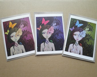 Lush set of 3 art giftcards