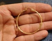 14K yellow gold filled hallowed Hoop earrings