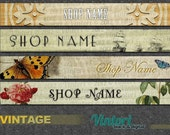 Premade Vintage banners 4 to choose from