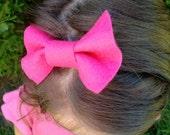 pink bow felty headband